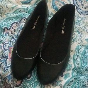 Simple black flats